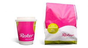 Bäckerei Reker Corporate Design Tüte und Kaffeebecher