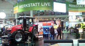 DLG e. V. Messeauftritt Werkstatt Live Stand
