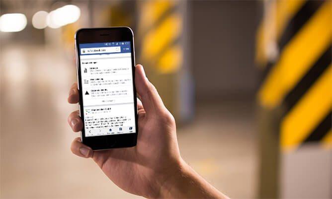 Blog plantamedium social-web Facebook auf Smartphone