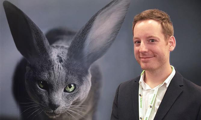 Michael Grau von plantamedium auf der Kleintier-Messe Interzoo 2018