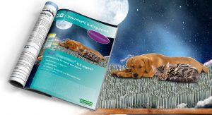 Anzeige für ein sanftes Sedativum für Hunde und Katzen