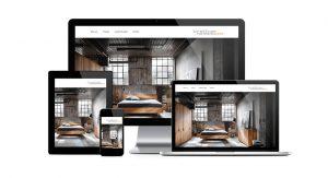 Webseite für einen Produktdesigner