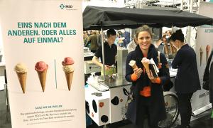 Agrarunternehmertage Münster 2019 Alina mit Eis